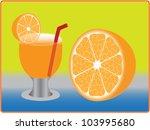 glasses of orange | Shutterstock .eps vector #103995680