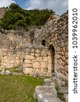 Small photo of Antalya - Turkey. March 03, 2018. Ancient Site of Arycanda, Lycia.Arycanda (Arykanda) is a unique Lycian city, built upon five large terraces ascending a mountain slope.