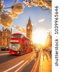 big ben during spring time with ... | Shutterstock . vector #1039965646