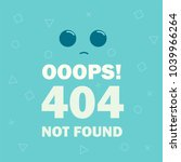 404 error page not found... | Shutterstock .eps vector #1039966264
