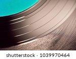 the texture of a black vinyl... | Shutterstock . vector #1039970464