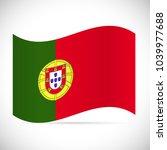 illustration of the flag of... | Shutterstock .eps vector #1039977688