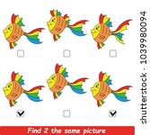 the educational kid matching... | Shutterstock .eps vector #1039980094