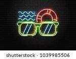 vector realistic isolated neon... | Shutterstock .eps vector #1039985506