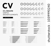 cv resume design elements set   ...