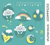 cheerful vectorial set of...