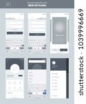 wireframe kit for mobile phone. ...