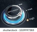 high efficiency level concept   ... | Shutterstock . vector #1039997383