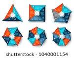 vector triangle  square ...   Shutterstock .eps vector #1040001154