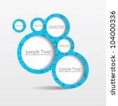 3d abstract advertise art... | Shutterstock .eps vector #104000336