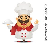 cartoon chef | Shutterstock .eps vector #104000510