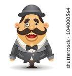 gentleman | Shutterstock .eps vector #104000564