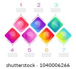 process chart. abstract... | Shutterstock .eps vector #1040006266