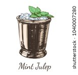 cocktail mint julep for the... | Shutterstock .eps vector #1040007280