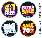 set sale tags  discount banners ... | Shutterstock .eps vector #1040011339