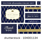 Vector Blue Ornate Frame Set....