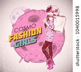 space fashion illustration.... | Shutterstock .eps vector #1040015998