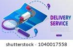 delivery website banner.... | Shutterstock .eps vector #1040017558