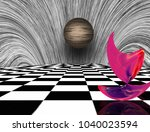 Surreal Composition. Pink...