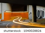 blurred headlight came out of... | Shutterstock . vector #1040028826