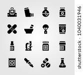 medical icons set. vector... | Shutterstock .eps vector #1040031946