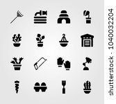 garden icons set. vector... | Shutterstock .eps vector #1040032204