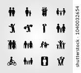 humans icons set. vector... | Shutterstock .eps vector #1040032654