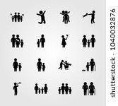 humans icons set. vector... | Shutterstock .eps vector #1040032876