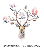 watercolor illustration.... | Shutterstock . vector #1040032939