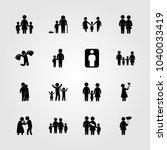 humans icons set. vector... | Shutterstock .eps vector #1040033419