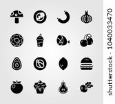 food and drinks icons set.... | Shutterstock .eps vector #1040033470