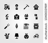garden icons set. vector... | Shutterstock .eps vector #1040033989