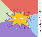 winner square banner. sliced... | Shutterstock .eps vector #1040034340