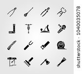 tools icons set. vector... | Shutterstock .eps vector #1040035078