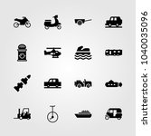 transport icons set. vector...   Shutterstock .eps vector #1040035096