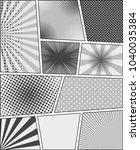 comic book monochrome template... | Shutterstock .eps vector #1040035384