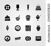 food and drinks icons set.... | Shutterstock .eps vector #1040035810