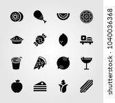 food and drinks icons set.... | Shutterstock .eps vector #1040036368