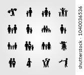humans icons set. vector... | Shutterstock .eps vector #1040036536