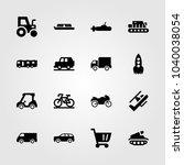 transport icons set. vector... | Shutterstock .eps vector #1040038054