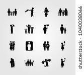 humans icons set. vector... | Shutterstock .eps vector #1040038066
