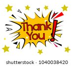 thank you  sign with comic... | Shutterstock .eps vector #1040038420