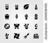 garden icons set. vector... | Shutterstock .eps vector #1040038450