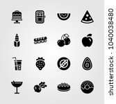 food and drinks icons set.... | Shutterstock .eps vector #1040038480