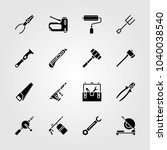 tools icons set. vector... | Shutterstock .eps vector #1040038540