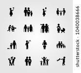 humans icons set. vector... | Shutterstock .eps vector #1040038666