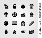 food and drinks icons set.... | Shutterstock .eps vector #1040038840