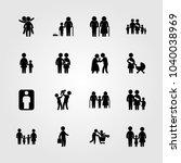humans icons set. vector...   Shutterstock .eps vector #1040038969