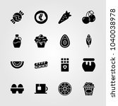 food and drinks icons set.... | Shutterstock .eps vector #1040038978