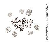 black easter lettering with... | Shutterstock .eps vector #1040039536